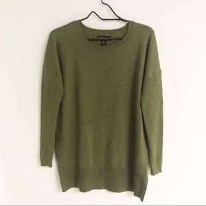 Cynthia Rowley Green Dolman Ribbed Wool Sweater